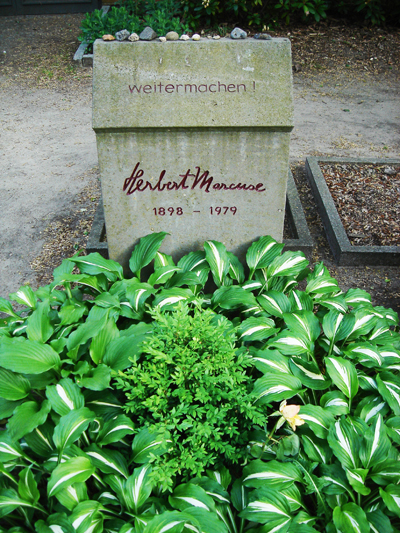 Herbert Marcuse's gravestone in Berlin (my contribution to the show)