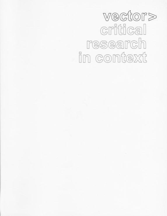 Antonia Hirsch Vector> Critical Research in Context